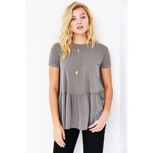 Truly Madly Deeply Urban Outfitters Peplum Top